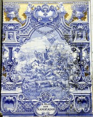Ancient Azulejo in Lisbon