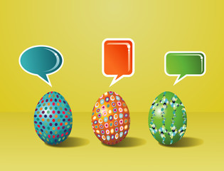 Social media painted Easter interaction
