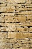 Close up of a limestone stone wall