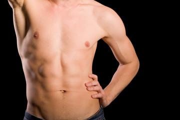training young man torso