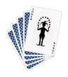 Playing cards – blue back side and joker