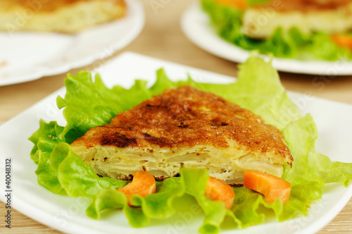 Spanish national dish - tortilla