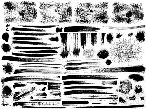 vector ink brush strokes set - 40048335