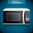 microwave oven in vector