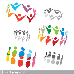 set of 3D people icons