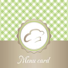 cute restaurant menu card