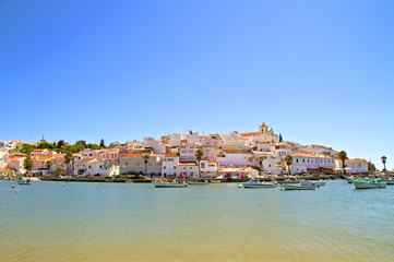 The village Ferragudo in Portugal