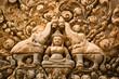 Indra carving, Banteay Srei, Angkor