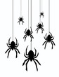 vector hanging spiders