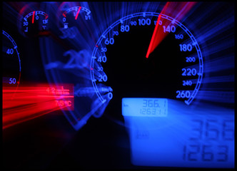 Abstract car console  - tachometer
