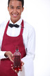 Waiter with a wine bottle