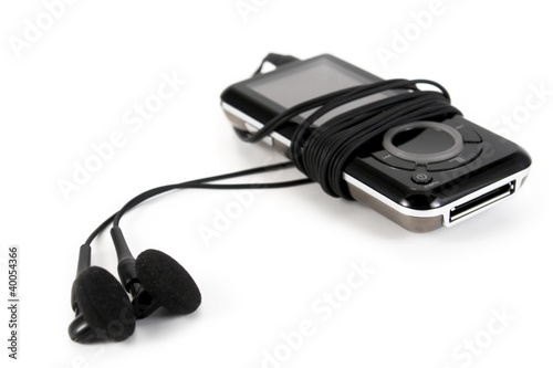 Mp3 player isolated on white