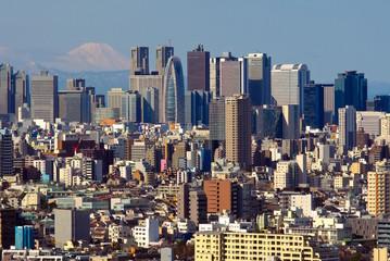 Skyline Tokio mit Fuji-san