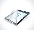 Black glossy tablet PC