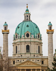 Dome of the Karlskirche (St. Charles's Church), Vienna, Austria
