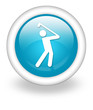 "Light Blue Icon ""Golfing"""