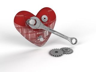 corazón y tuercas