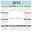 Calendar 2013, english, with space for your text / logo