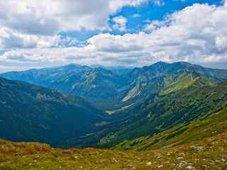 Valley in the High Tatras, mountains in Slovakia.