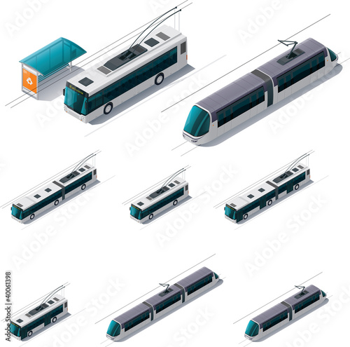 Vector public electric transport - 40061398