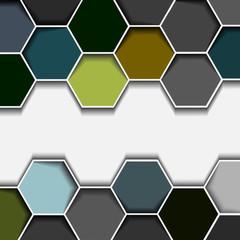 Abstract hexagon border