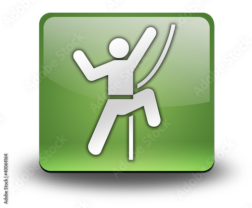 "Green 3D Effect Icon ""Rock Climbing"""