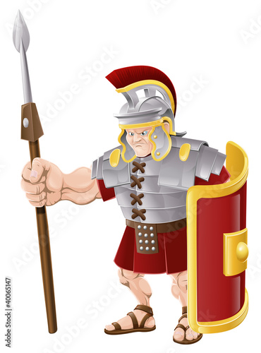 Plexiglas Ridders Strong Roman Soldier Illustration