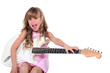Girl with ringlets and guitar