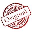 """Carimbo com a palavra """"original"""""""