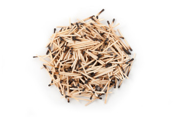 Heap of burnt matches