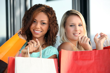 Women on a shopping spree