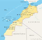 Morocco and Western Sahara Map