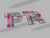 Public relations concept. Word tag cloud with 3D text effect