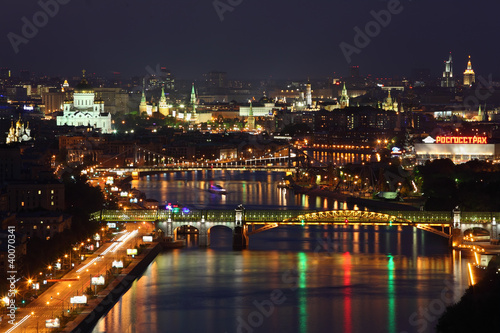 Pushkinsky bridge at night