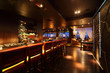 bar counter with chairs in empty comfortable restaurant at night - 40070703