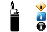 Lighter pictogram and icons