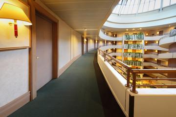 Balconies in hotel
