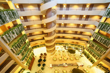 Floors and staircase in hotel