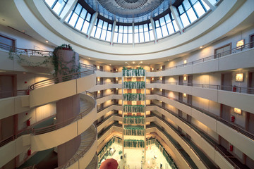Stories and round dome in hotel