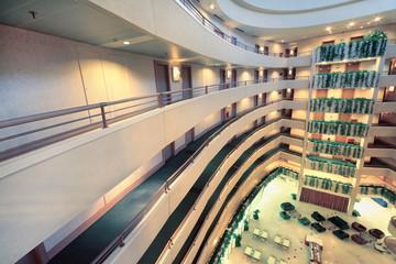 Balconies at stories in Iris Congress hotel