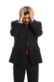 Hispanic Businessman Stressed