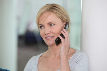 Woman using a cellphone