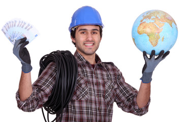 Tradesman getting rich from working abroad
