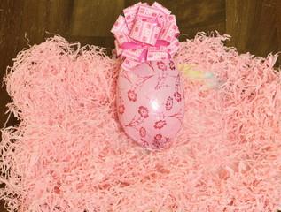 Pasqua,uovo rosa