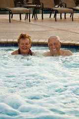 Senior Couple in the Hot Tub