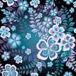 Dark seamless floral pattern