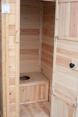 wooden toilet for country house