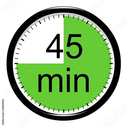 Leinwandbild Motiv Minuterie - 45 minutes