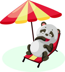 Panda on the beach