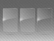 Glass framework set. Vector illustration.